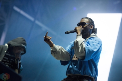 NEW ORLEANS, LA - MARCH 09: Migos performs at Buku Festival in New Orleans on March 09, 2018. (Photo: Kelli Binnings/Aesthetic Magazine)