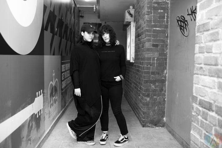 TORONTO, ON - FEBRUARY 28: Milk And Bone pose for a portrait backstage at The Mod Club in Toronto on February 28, 2018. (Photo: Joanna Glezakos/Aesthetic Magazine)