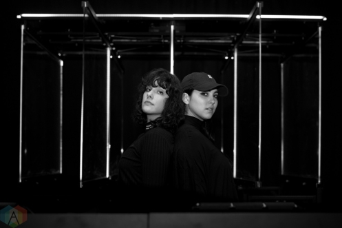TORONTO, ON - FEBRUARY 28: Milk And Bone pose for a portrait backstage at The Mod Club in Toronto on February 28, 2018. (Photo: Joanna Glezakos/Aesthetic Magazine)