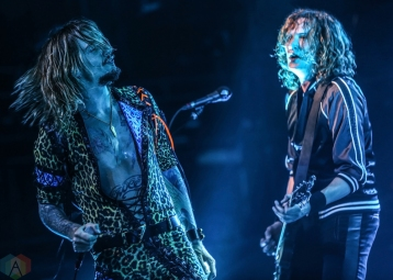 LOS ANGELES, CA - MARCH 29: The Darkness performs at Fonda Theatre in Los Angeles on March 29, 2018. (Photo: Melanie Escombe/Aesthetic Magazine)