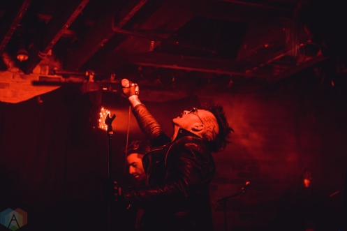 TORONTO, ON - APRIL 15: 3Teeth performs at Velvet Underground in Toronto on April 15, 2018. (Photo: Sarah McNeil/Aesthetic Magazine)