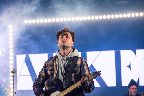 TORONTO, ON - APRIL 05 - Arkells performs at Yonge-Dundas Square in Toronto on April 05, 2018. (Photo: Brendan Albert/Aesthetic Magazine)