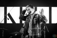 TORONTO, ON - APRIL 05 - Arkells performs at Yonge-Dundas Square in Toronto on April 05, 2018. (Photo: Brendan Albert/Aesthetic Magazine)