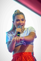 INDIO, CA - APRIL 22: Hayley Kiyoko performs at Coachella at Empire Polo Club in Indio, California on April 22, 2018. (Photo: Mark Ostrom)