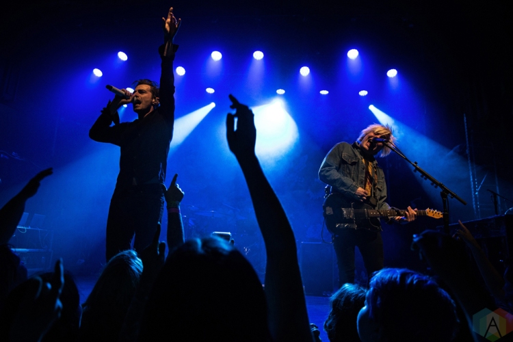 TORONTO, ON - APRIL 01: New Politics performs at The Mod Club in Toronto on April 01, 2018. (Photo: Theo Rallis/Aesthetic Magazine)
