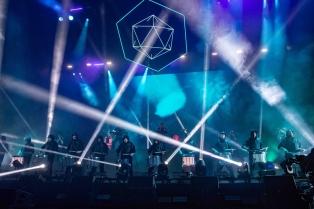 INDIO, CA - APRIL 22: Odesza performs at Coachella at Empire Polo Club in Indio, California on April 22, 2018. (Photo: Mark Ostrom)