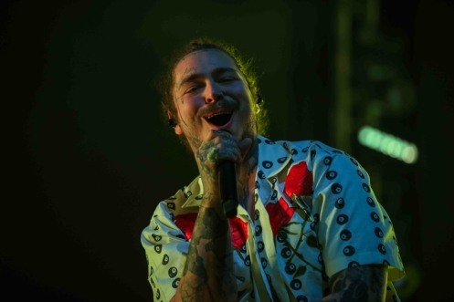 INDIO, CA - APRIL 21: Post Malone performs at Coachella at Empire Polo Club in Indio, California on April 21, 2018. (Photo: Mark Ostrom)
