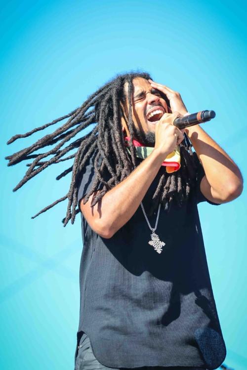 INDIO, CA - APRIL 20: Skip Marley performs at Coachella at Empire Polo Club in Indio, California on April 20, 2018. (Photo: Mark Ostrom)