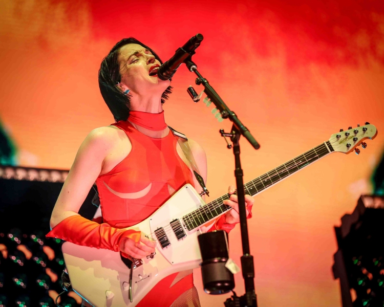 INDIO, CA - APRIL 20: St. Vincent performs at Coachella at Empire Polo Club in Indio, California on April 20, 2018. (Photo: Mark Ostrom)