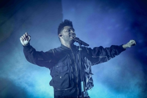 INDIO, CA - APRIL 20: The Weeknd performs at Coachella at Empire Polo Club in Indio, California on April 20, 2018. (Photo: Mark Ostrom)