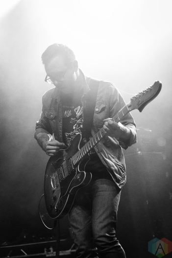 CHICAGO, IL - APRIL 17: Tokyo Police Club performs at Riviera Theatre in Chicago on April 17, 2018. (Photo: Katie Kuropas/Aesthetic Magazine)