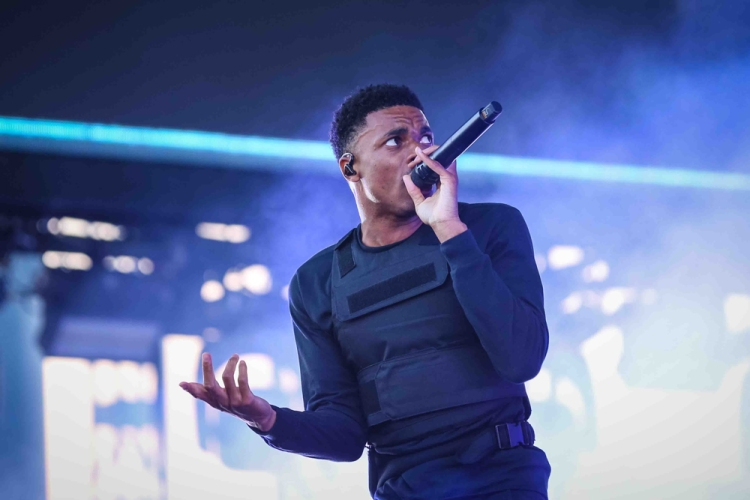 INDIO, CA - APRIL 20: Vince Staples performs at Coachella at Empire Polo Club in Indio, California on April 20, 2018. (Photo: Mark Ostrom)