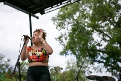 Charleston, NC - APRIL 21: Weaves performs at High Water Festival in Charleston, South Carolina on April 21, 2018. (Photo: Kari Terzino/Aesthetic Magazine)