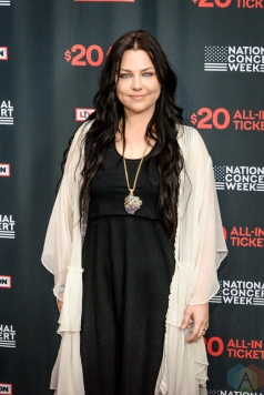 NEW YORK, NY – APRIL 30 - Amy Lee of Evanesence attends the Live Nation National Concert Week press day at Hammerstein Ballroom in New York City on April 30, 2018. (Photo: Alex Bear/Aesthetic Magazine)