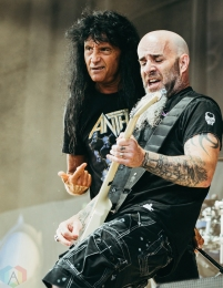 TORONTO, ON - MAY 29: Anthrax performs at Budweiser Stage in Toronto on May 29, 2018. (Photo: David Scala/Aesthetic Magazine)
