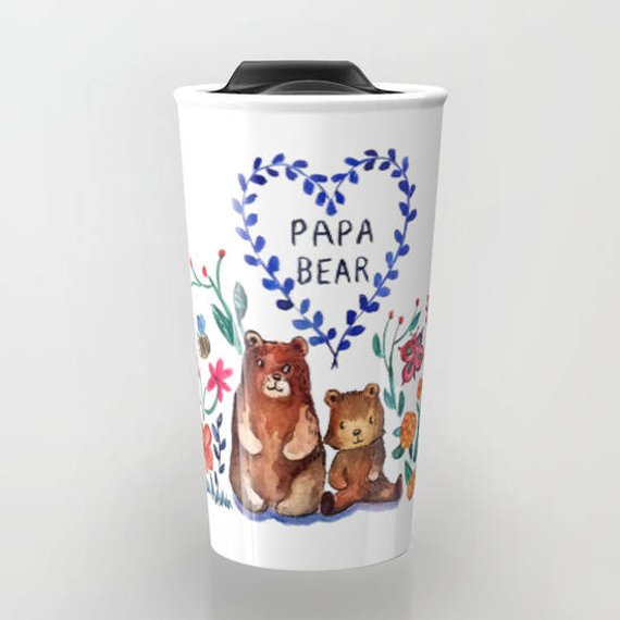 Ceramic Bear Travel Mug