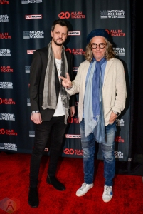 NEW YORK, NY – APRIL 30 - Jesse Triplett and Ed Roland of Collective Soul attend the Live Nation National Concert Week press day at Hammerstein Ballroom in New York City on April 30, 2018. (Photo: Alex Bear/Aesthetic Magazine)