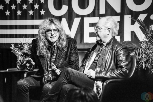 NEW YORK, NY – APRIL 30 - Mick Jones of Foreigner (right) and David Coverdale of Whitesnake attend the Live Nation National Concert Week press day at Hammerstein Ballroom in New York City on April 30, 2018. (Photo: Alex Bear/Aesthetic Magazine)