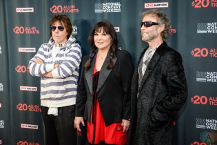 NEW YORK, NY – APRIL 30 - Jeff Beck (left), Ann Wilson of Heart, and Paul Rodgers attend the Live Nation National Concert Week press day at Hammerstein Ballroom in New York City on April 30, 2018. (Photo: Alex Bear/Aesthetic Magazine)