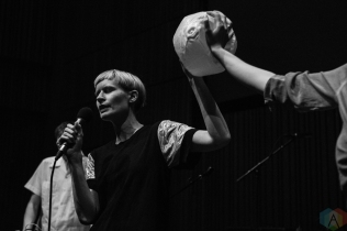 SEATTLE, WA - MAY 10: Jenny Hval performs at The Nordic Heritage Museum in Seattle on May 10, 2018. (Photo: Kevin Tosh/Aesthetic Magazine)