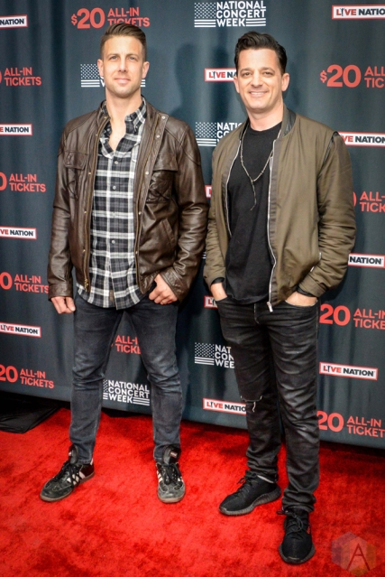NEW YORK, NY – APRIL 30 - Marc Roberge and Jerry DePizzo of O.A.R. attend the Live Nation National Concert Week press day at Hammerstein Ballroom in New York City on April 30, 2018. (Photo: Alex Bear/Aesthetic Magazine)