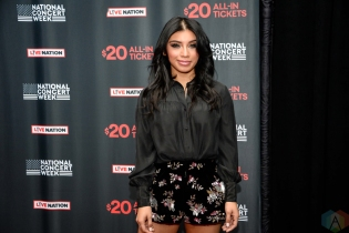NEW YORK, NY – APRIL 30 - Kirstin Maldonado of Pentatonix attends the Live Nation National Concert Week press day at Hammerstein Ballroom in New York City on April 30, 2018. (Photo: Alex Bear/Aesthetic Magazine)