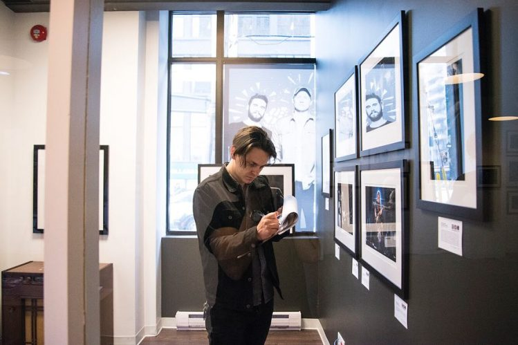 Peter Dreimanis of July Talk at the 2018 Sound Image exhibition in Toronto on May 3, 2018. (Courtesy of Analogue Gallery)