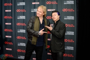 "NEW YORK, NY – APRIL 30 - James ""JY"" Younge and Lawrence Gowan of Styx attend the Live Nation National Concert Week press day at Hammerstein Ballroom in New York City on April 30, 2018. (Photo: Alex Bear/Aesthetic Magazine)"