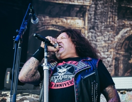 TORONTO, ON - MAY 29: Testament performs at Budweiser Stage in Toronto on May 29, 2018. (Photo: David Scala/Aesthetic Magazine)