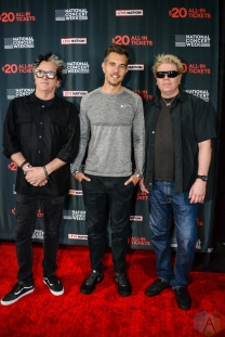 NEW YORK, NY – APRIL 30 - Noodles and Dexter Holland of The Offspring and Nick Hexum (middle) of 311 attend the Live Nation National Concert Week press day at Hammerstein Ballroom in New York City on April 30, 2018. (Photo: Alex Bear/Aesthetic Magazine)