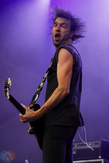 TORONTO, ON - JUNE 03: Japandroids performs at Field Trip Music Festival in Toronto on June 03, 2018. (Photo: Curtis Sindrey/Aesthetic Magazine)
