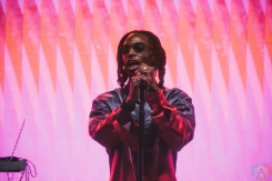 TORONTO, ON - JUNE 15: Jazz Cartier performs at Yonge-Dundas Square in Toronto during NXNE on June 15, 2018. (Photo: Nicole De Khors/Aesthetic Magazine)
