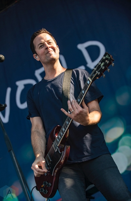MONTEBELLO, QC - JUNE 16: Jimmy Eat World performs at Montebello Rockfest in Montebello, Quebec on June 16, 2018. (Photo: Greg Matthews/Aesthetic Magazine)