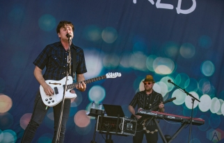 MONTEBELLO, QC - JUNE 16: Jimmy Eat World performs at Montebello Rockfest in Montebello, Quebec on June 16, 2018. (Photo: Greg Matthews/Aesthetic Magazine)