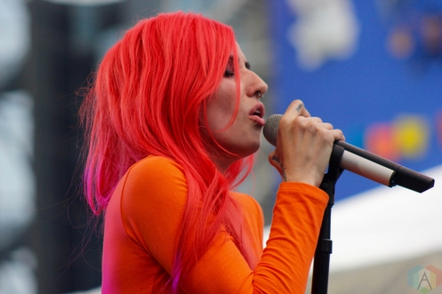 TORONTO, ON - JUNE 16: Lights performs at NXNE 2018 at Yonge-Dundas Square in Toronto on June 16, 2018. (Photo: Curtis Sindrey/Aesthetic Magazine)