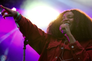 TORONTO, ON - JUNE 02: Noname performs at Field Trip Music Festival in Toronto on June 02, 2018. (Photo: Curtis Sindrey/Aesthetic Magazine)