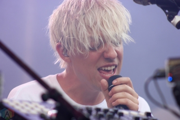 TORONTO, ON - JUNE 17: Robert Delong performs at NXNE 2018 at Yonge-Dundas Square in Toronto on June 17, 2018. (Photo: Curtis Sindrey/Aesthetic Magazine)