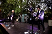 STUDIO CITY, CA - JUNE 28: Jeff Schroeder, Billy Corgan, Jimmy Chamberlin and James Iha of The Smashing Pumpkins perform during the 1979 House Party at a private residence on June 28, 2018 in Studio City, California. (Photo: Kevin Mazur/Getty)