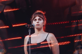 TORONTO, ON - JUNE 15: U.S. Girls performs at Yonge-Dundas Square in Toronto during NXNE on June 15, 2018. (Photo: Nicole De Khors/Aesthetic Magazine)