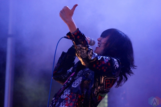 TORONTO, ON - JUNE 03: Yeah Yeah Yeahs perform at Field Trip Music Festival in Toronto on June 03, 2018. (Photo: Curtis Sindrey/Aesthetic Magazine)
