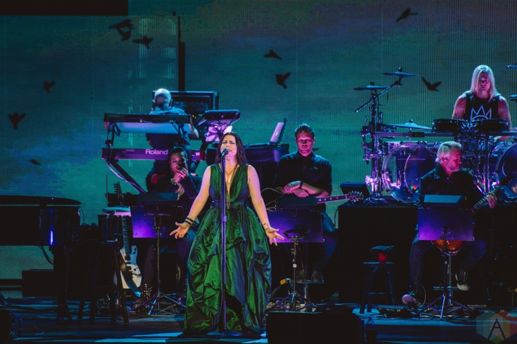 TORONTO, ON - JULY 27: Amy Lee of Evanescence performs at Budweiser Stage in Toronto on July 27, 2018. (Photo: Joanna Glezakos/Aesthetic Magazine)