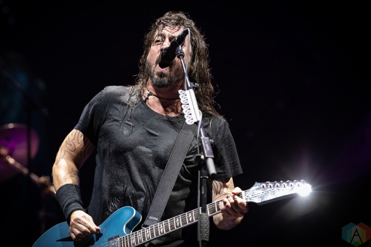 TORONTO, ON - JULY 12: Dave Grohl of Foo Fighters performs at Rogers Centre in Toronto on July 12, 2018. (Photo: Brendan Albert/Aesthetic Magazine)