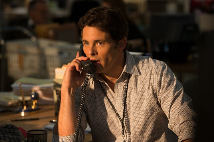 "James Marsden as Warren Strobel in the film ""Shock and Awe"". (Courtesy of Castle Rock Entertainment)"