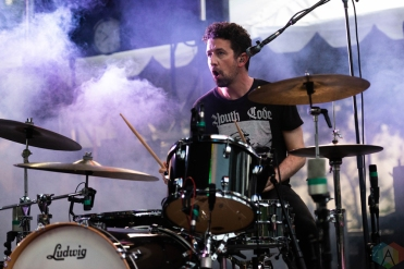 CHICAGO, IL - JULY 22: Japandroids performs at Pitchfork Music Festival in Chicago on July 22, 2018. (Photo: Katie Kuropas/Aesthetic Magazine)