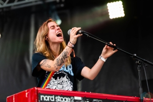 CHICAGO, IL - JULY 20: Julien Baker performs at Pitchfork Music Festival in Chicago on July 20, 2018. (Photo: Katie Kuropas/Aesthetic Magazine)