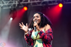 CHICAGO, IL - JULY 22: Noname performs at Pitchfork Music Festival in Chicago on July 22, 2018. (Photo: Katie Kuropas/Aesthetic Magazine)