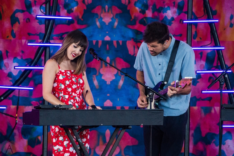 TORONTO, ON - JULY 07: Oh Wonder performs at Budweiser Stage in Toronto on July 07, 2018. (Photo: Lisa Mark/Aesthetic Magazine)