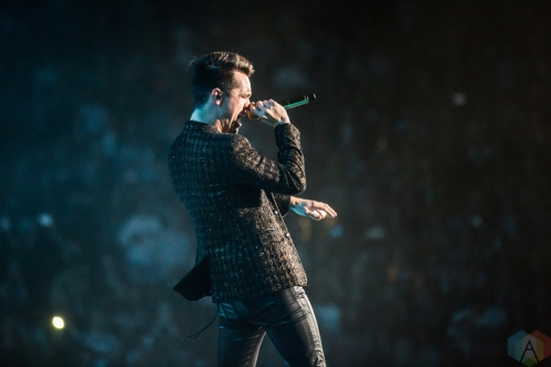 TORONTO, ON - JULY 22: Brendon Urie of Panic at the Disco performs at Scotiabank Arena in Toronto on July 22, 2018. (Photo: Katrina Lat/Aesthetic Magazine)