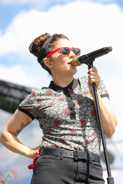 TORONTO, ON - JULY 17: The Interrupters perform at Warped Tour at Echo Beach in Toronto on July 17, 2018. (Photo: Curtis Sindrey/Aesthetic Magazine)