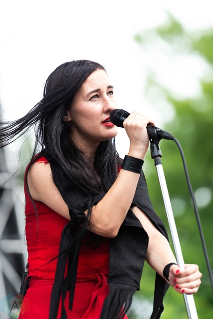 CHICAGO, IL - JULY 21: Zola Jesus performs at Pitchfork Music Festival in Chicago on July 21, 2018. (Photo: Katie Kuropas/Aesthetic Magazine)